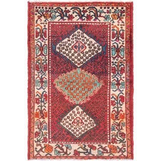 Hand Knotted Bakhtiar Semi Antique Wool Area Rug - 3' 6 x 5' 3