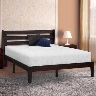 Sleeplanner Wood Platform Bed with Headboard, Queen 40SF01Q