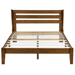 Sleeplanner Wood Platform Bed with Headboard, Full 40SF01F