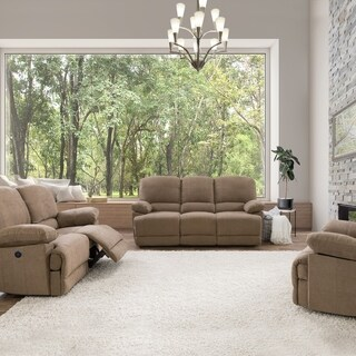 Chenille Fabric Power Recliner 3pc Sofa and Chair Set