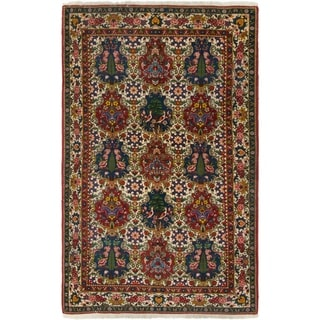 Hand Knotted Bakhtiar Semi Antique Wool Area Rug - 5' 4 x 8' 7