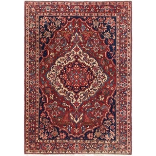 Hand Knotted Bakhtiar Wool Area Rug - 7' x 10' 2