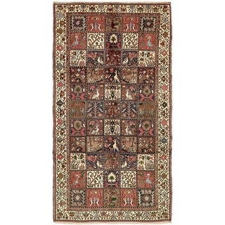 Hand Knotted Bakhtiar Semi Antique Wool Area Rug - 5' 2 x 9' 9
