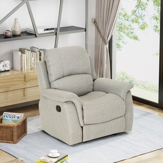 Merzbacher Contemporary Fabric Upholstered Rocking Glider Recliner by Christopher Knight Home