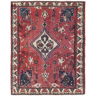 Hand Knotted Bakhtiar Semi Antique Wool Area Rug - 5' 3 x 6' 7