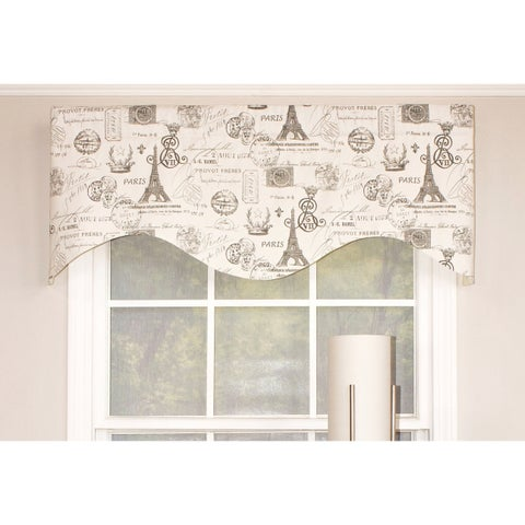 RLF Home French Stamp Cornice Window Valance - Black
