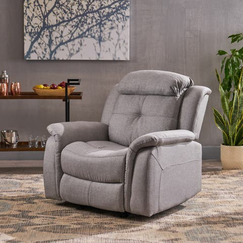 Amadeus Contemporary Fabric Upholstered Rocking Glider Recliner by Christopher Knight Home