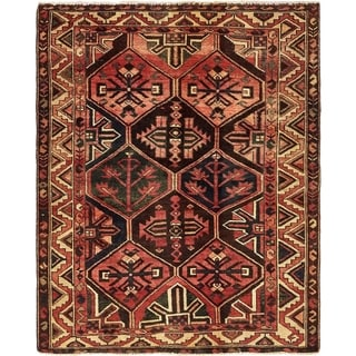 Hand Knotted Bakhtiar Semi Antique Wool Area Rug - 5' x 6' 3