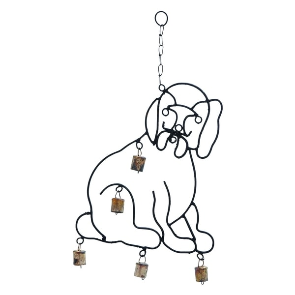Shop High Quality Metal Wind Chime With Sculpted Dog Image