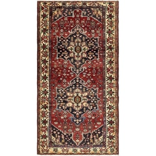 Hand Knotted Bakhtiar Semi Antique Wool Area Rug - 5' 1 x 9' 9
