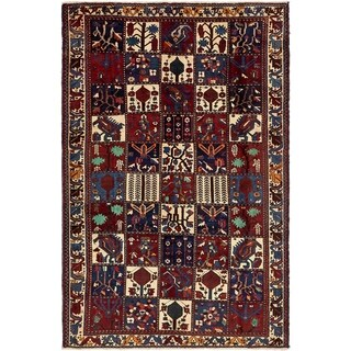Hand Knotted Bakhtiar Semi Antique Wool Area Rug - 5' 8 x 9'