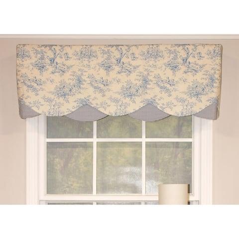 RLF Home Playful Day Petticoat Window Valance - Powder Blue