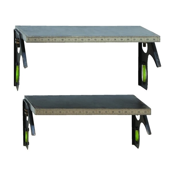 Unique Do It Yourself Tape Measure Shelf Set In Steel Alloy