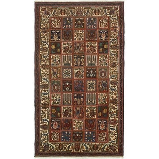 Hand Knotted Bakhtiar Semi Antique Wool Area Rug - 6' 10 x 12'