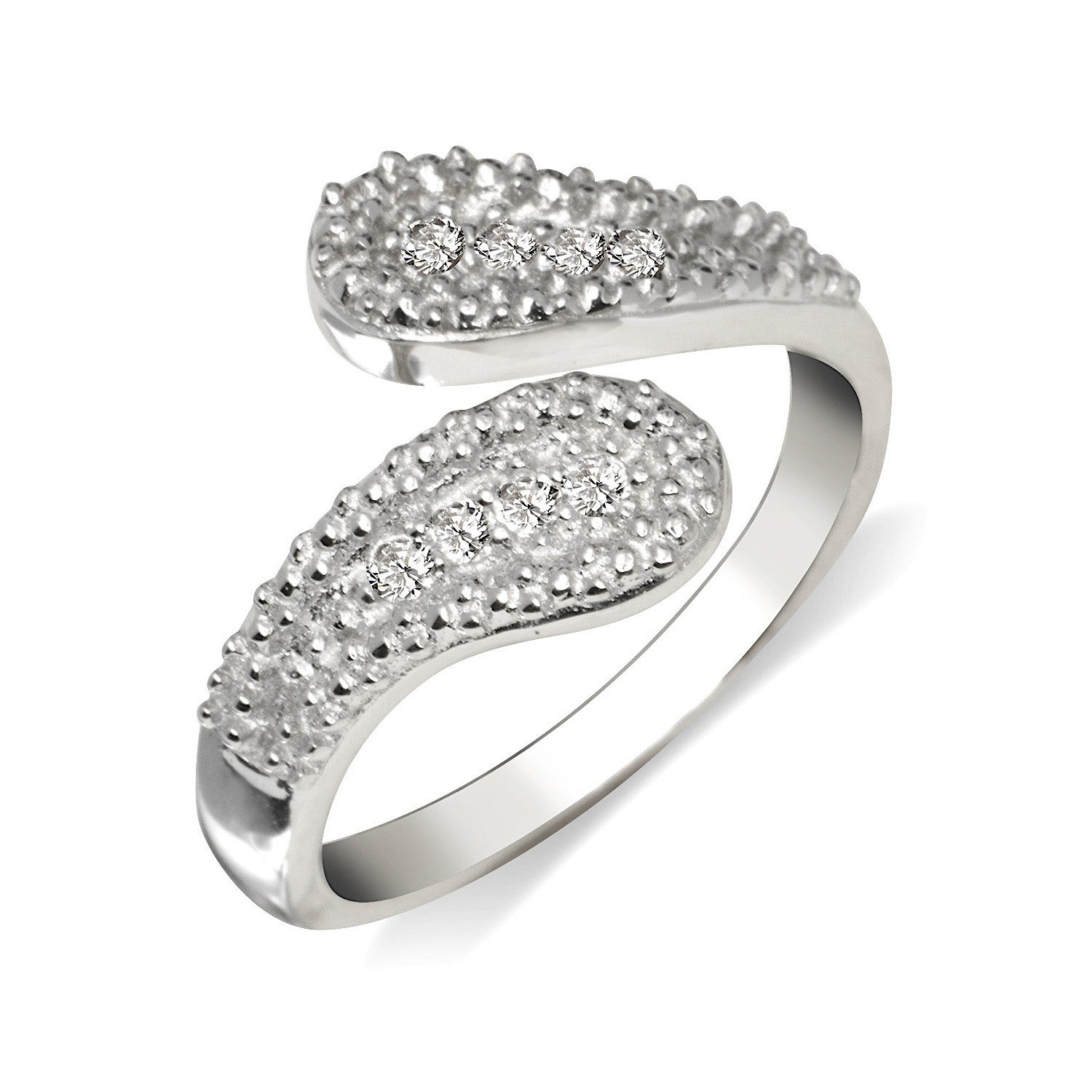 Hearts /& Flowers Toe Ring in SOLID 925 Sterling Silver