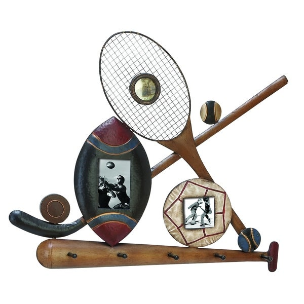 Classic Sports Frames - 3 Picture Frames With Key Hooks Brand Woodland