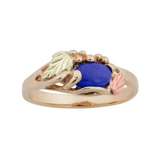 Black Hills Gold and Lapis Lazuli Ring