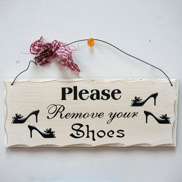 picture about Please Remove Your Shoes Sign Printable Free referred to as You should Eliminate Your Sneakers Wooden Wall Putting Decor 10\