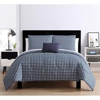 VCNY Home Glenville Gingham Bed in a Bag Comforter Set