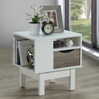 Morella 3-tier Single-drawer White Side Table