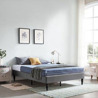 Merribee Queen-Size Bed Frame Fully-Upholstered by Christopher Knight Home