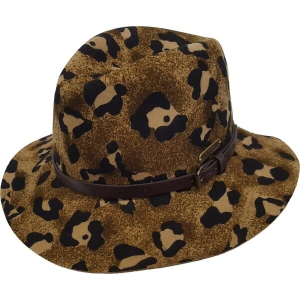 Shop Fall Winter Fedora Floppy Women s Hat Cheetah Printed 100% Wool Felt -  Free Shipping Today - Overstock - 23075607 d1c00fd1931