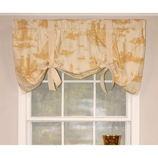 RLF Home Harbor View Tie-Up Window Valance - Daffodil