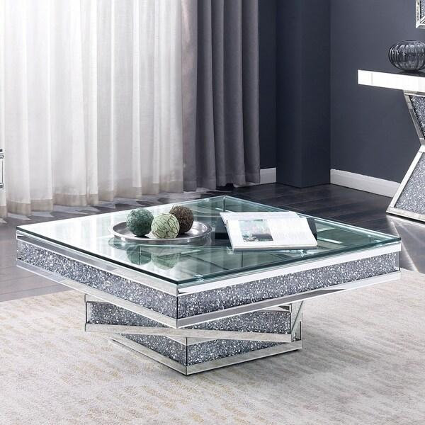 Furniture Of America Aarika Mirrored Coffee Table