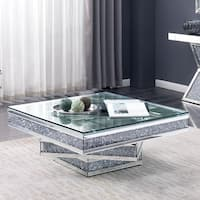 Furniture of America Aarika Mirrored Coffee Table