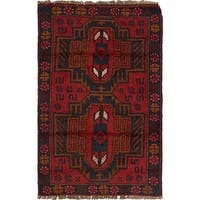 Hand Knotted Balouch Wool Area Rug - 2' 9 x 4' 8