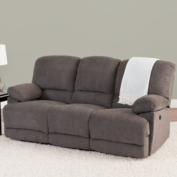Wondrous Shop Chenille Fabric Power Reclining Sofa With Usb Port Dailytribune Chair Design For Home Dailytribuneorg