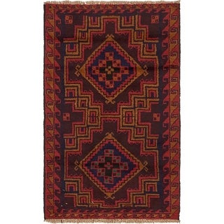 Hand Knotted Balouch Wool Area Rug - 2' 10 x 4' 8