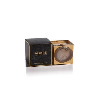 """3.25"""" Tall """"Agate"""" Gold Glass Scented Candle Jar, Oceana Fragrance"""