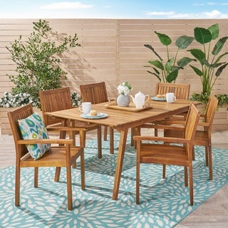 Jersey Outdoor 7 Piece Acacia Dining Set by Christopher Knight Home