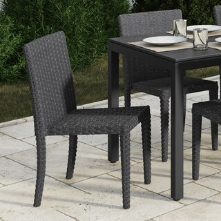 Brisbane Rattan Wicker Dining Chairs, Set of 4