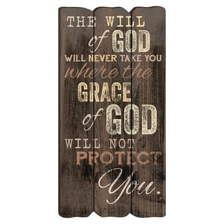 """The Will of God Wooden Wall Art 12"""" x 6"""" x 0.25"""" - Brown"""