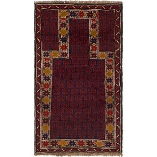 Hand Knotted Balouch Wool Area Rug - 2' 10 x 4' 10