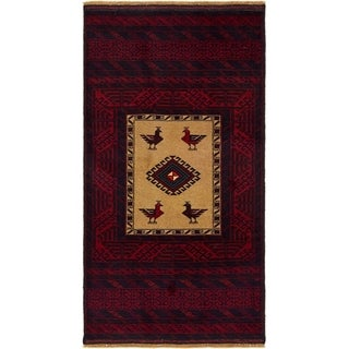 Hand Knotted Balouch Wool Area Rug - 3' x 5' 8