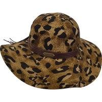 6f15efb6773 Cheetah Floppy Wide Brim Fall Winter Women s Hat 100 percent Wool Felt. Sale