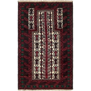 Hand Knotted Balouch Wool Area Rug - 3' x 5'