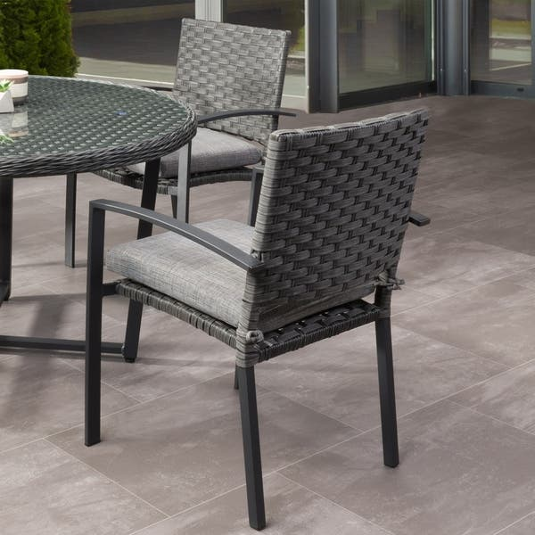 Sensational Shop Parkview Patio Dining Chairs With Cushions Charcoal Spiritservingveterans Wood Chair Design Ideas Spiritservingveteransorg