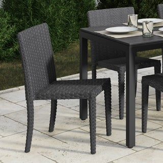 Brisbane Rattan Wicker Dining Chairs, Set of 2