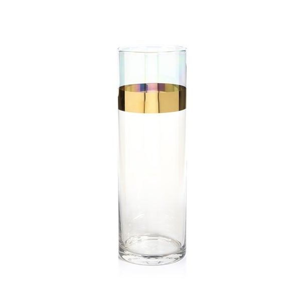 Shop 1175 Tall Veneto Luster Glass Vase Hurricane Clear And
