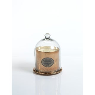 "6.5"" Tall Medium Candle Jar with Glass Dome, Vanilla Orchid Fragrance, Antique Gold"