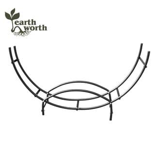 Earth Worth Firewood Curved Log Rack 5 ft Black
