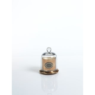 """4.5"""" Tall Small Candle Jar with Glass Dome, Vanilla Orchid Fragrance, Antique Gold (Set of 2)"""