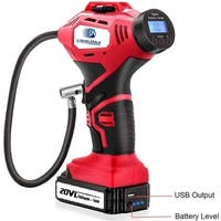 20V Automatic Lithium Ion Battery Cordless Inflator