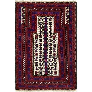 Hand Knotted Balouch Wool Area Rug - 3' x 4' 4