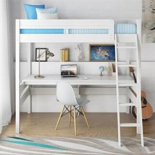 Avenue Greene Lola White Twin Loft Bed