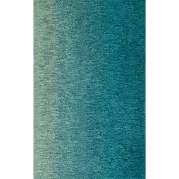 Shop Addison Elyria Horizontal Stitch Of Turquoise Area Rug 8 X10